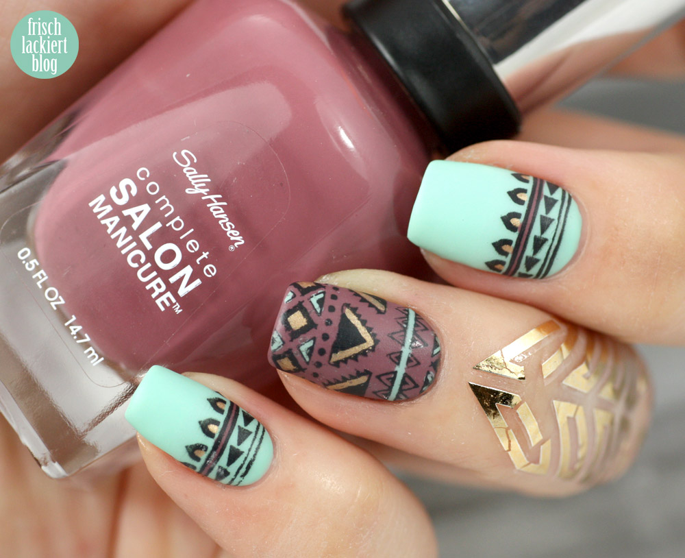 azteken nailart nageldesign