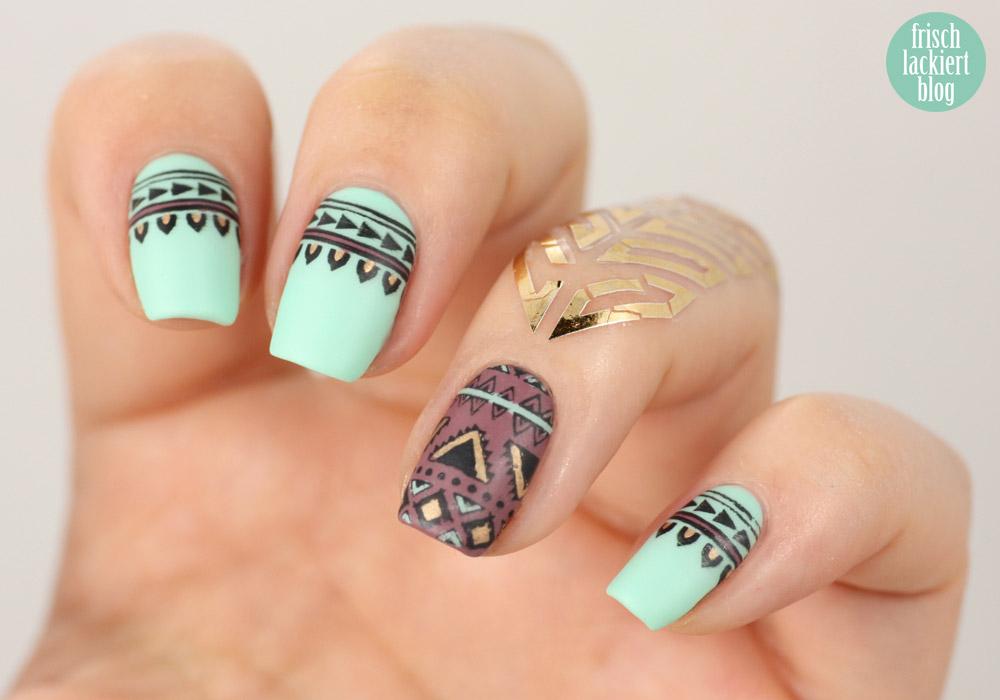 azteken nailart nageldesign
