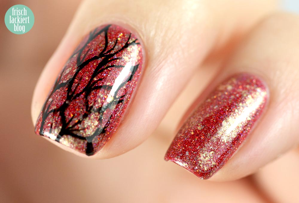 F.U.N. Lacquer Goodness of the Dawn, frischlackiert, stamping, überchic, gold