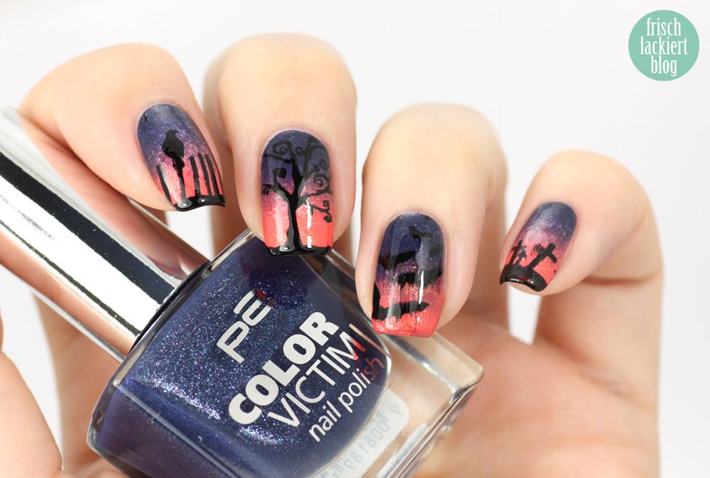 frischlackiert halloween nailart