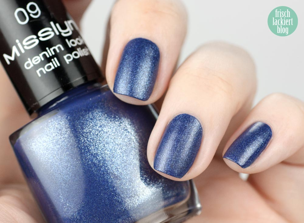 Misslyn Denim Look Nail Polish – 09 blue jeans