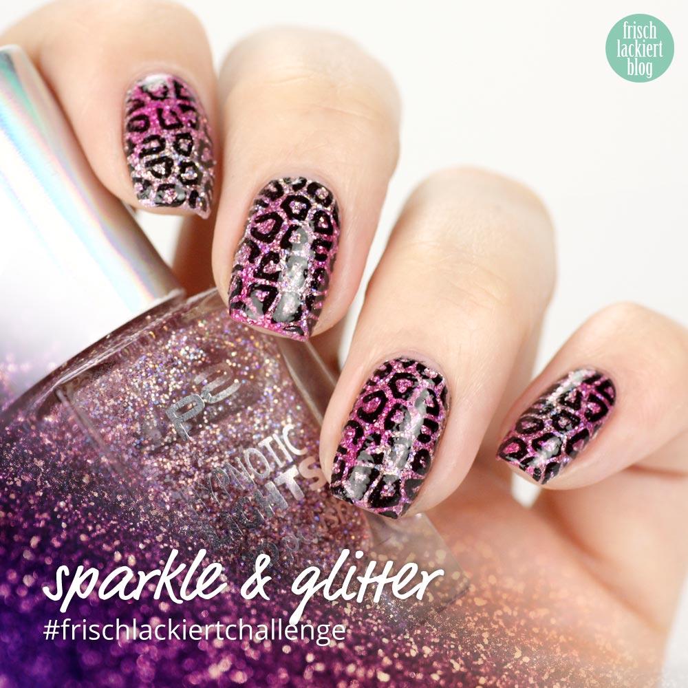 Frischlackiert-Challenge – sparkle and glitter