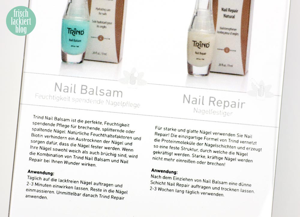Trind Nail Balsam und Nail Repair Natural