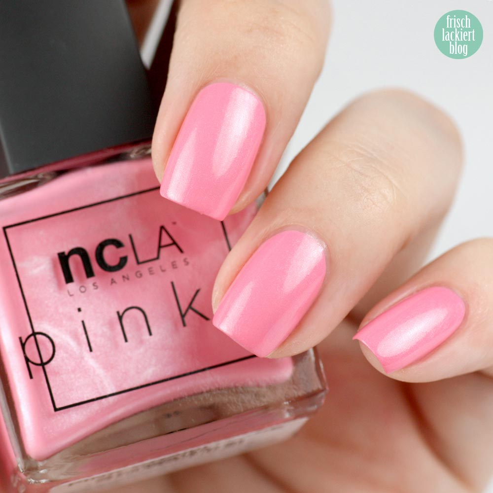 NCLA The Pinks – Pink Champagne - swatch by frischlackiert