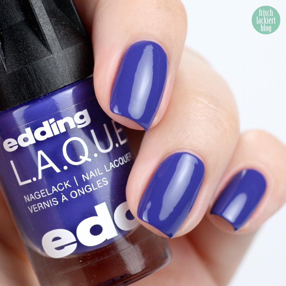 Edding L.A.Q.U.E. – Sommerset Colour E.X.P.L.O.S.I.O.N. – Boom Boom Blue – swatch by frischlackiert