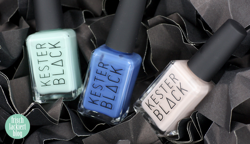 Kester Black – Bubblegum, Lapis, Buttercream - swatch by frischlackiert