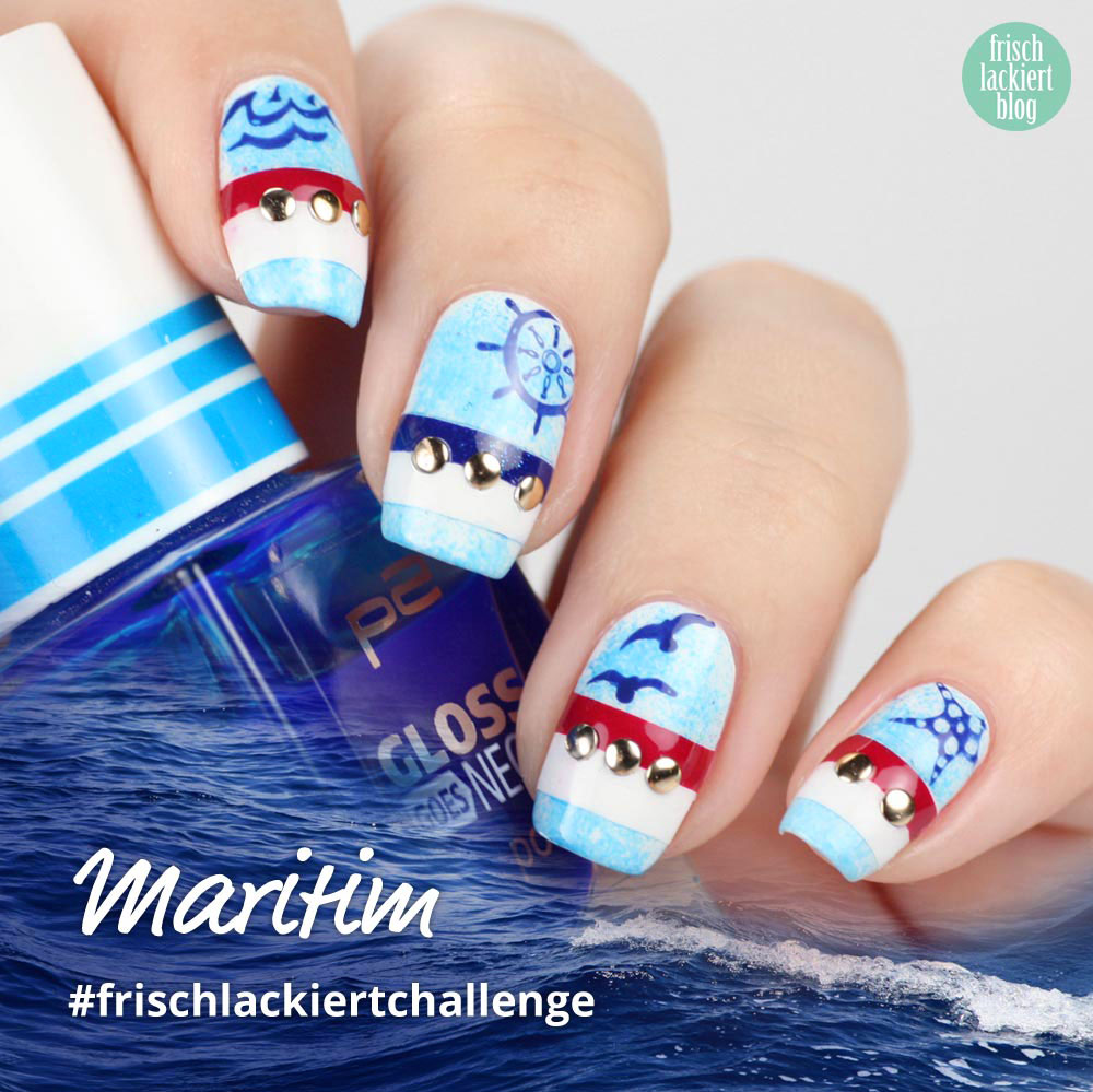 Frischlackiert-Challenge – Maritim Nailart - by frischlackiert