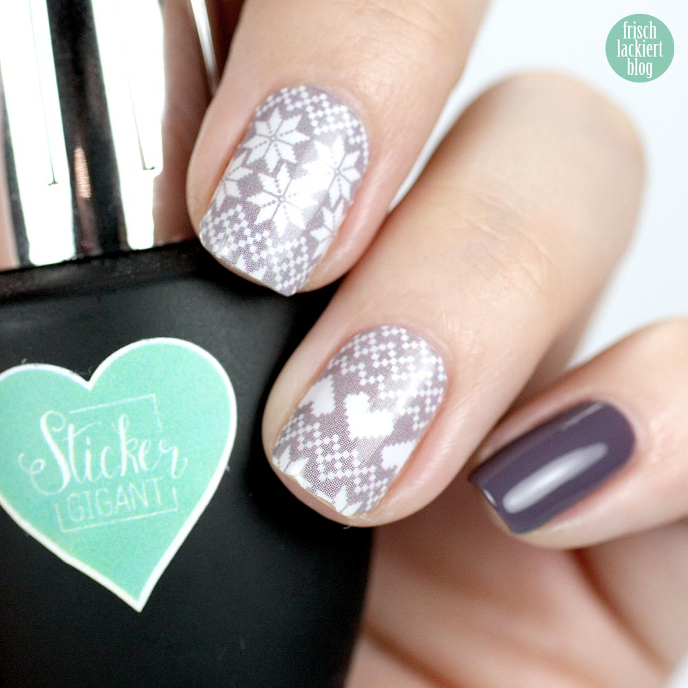 Sticker Gigant Winterfräulein Nailwraps – ANNY friends forever – swatch by frischlackiert