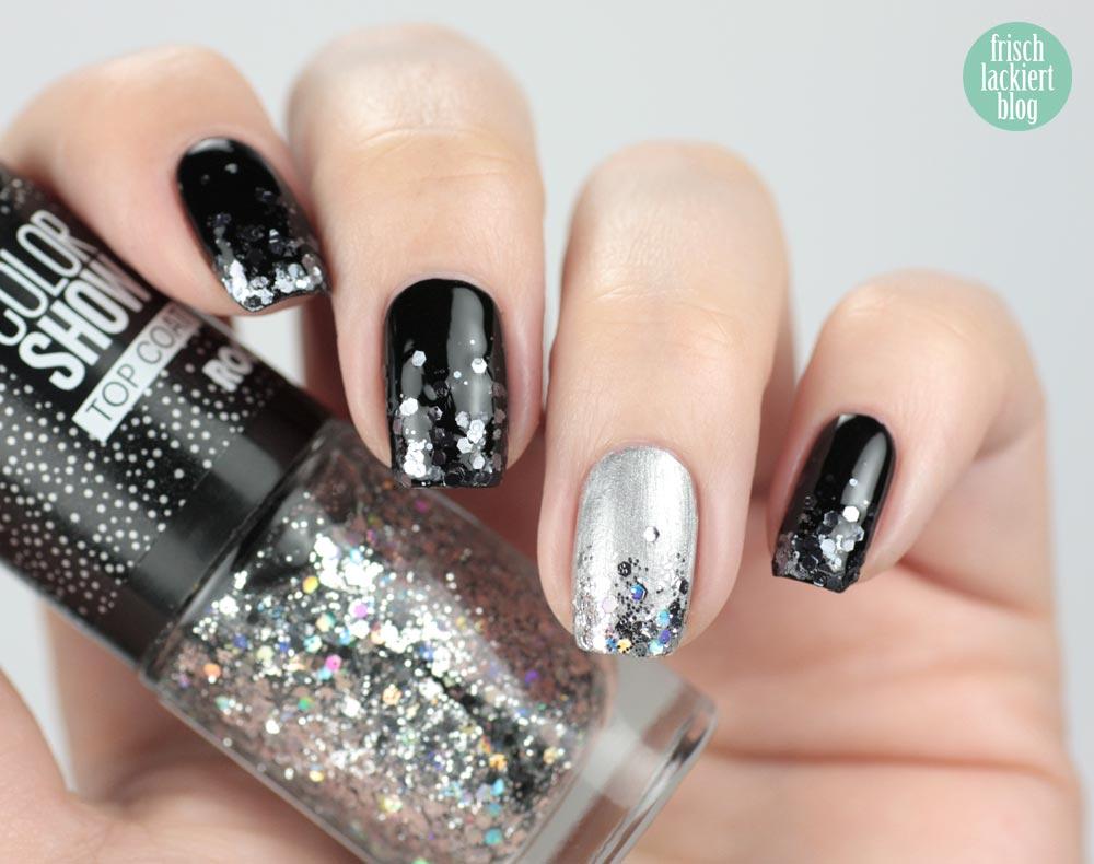 Glitter Gradient Nailart mit Maybelline Color Show – by frischlackiert