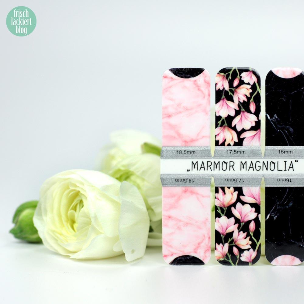 Sticker Gigant Frühlingskollektion 2017 – Mamor Magnolia – Nailwraps – by frischlackiert