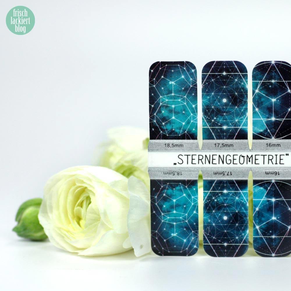 Sticker Gigant Frühlingskollektion 2017 – Sternengeometrie – Nailwraps – by frischlackiert