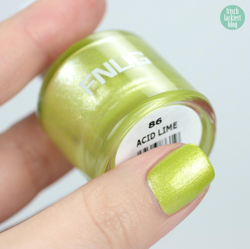 FNUG Acid Lime – green nailpolish – swatch by frischlackiert