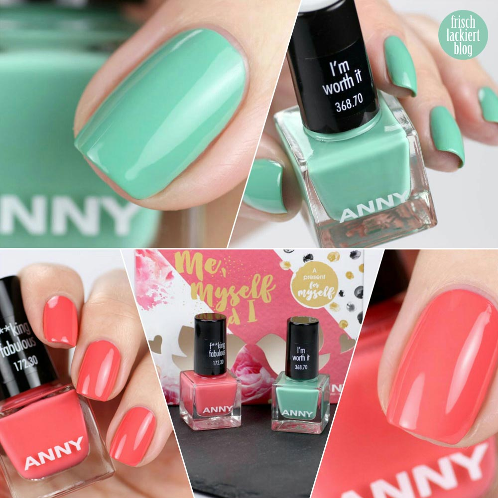 ANNY – Mini-Set – Me, Myself and I – I´m worth it – F**king fabulous – swatch by frischlackiert