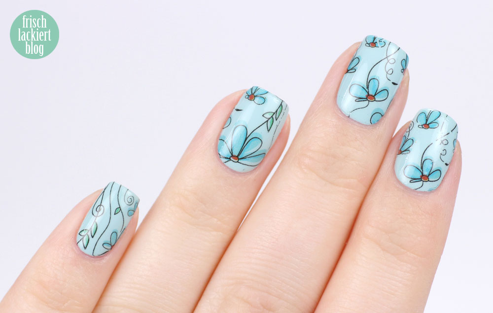 Essie strike a pose-itano resort collection 2017 - flowe waterdecals BP-W17 - by frischlackiert