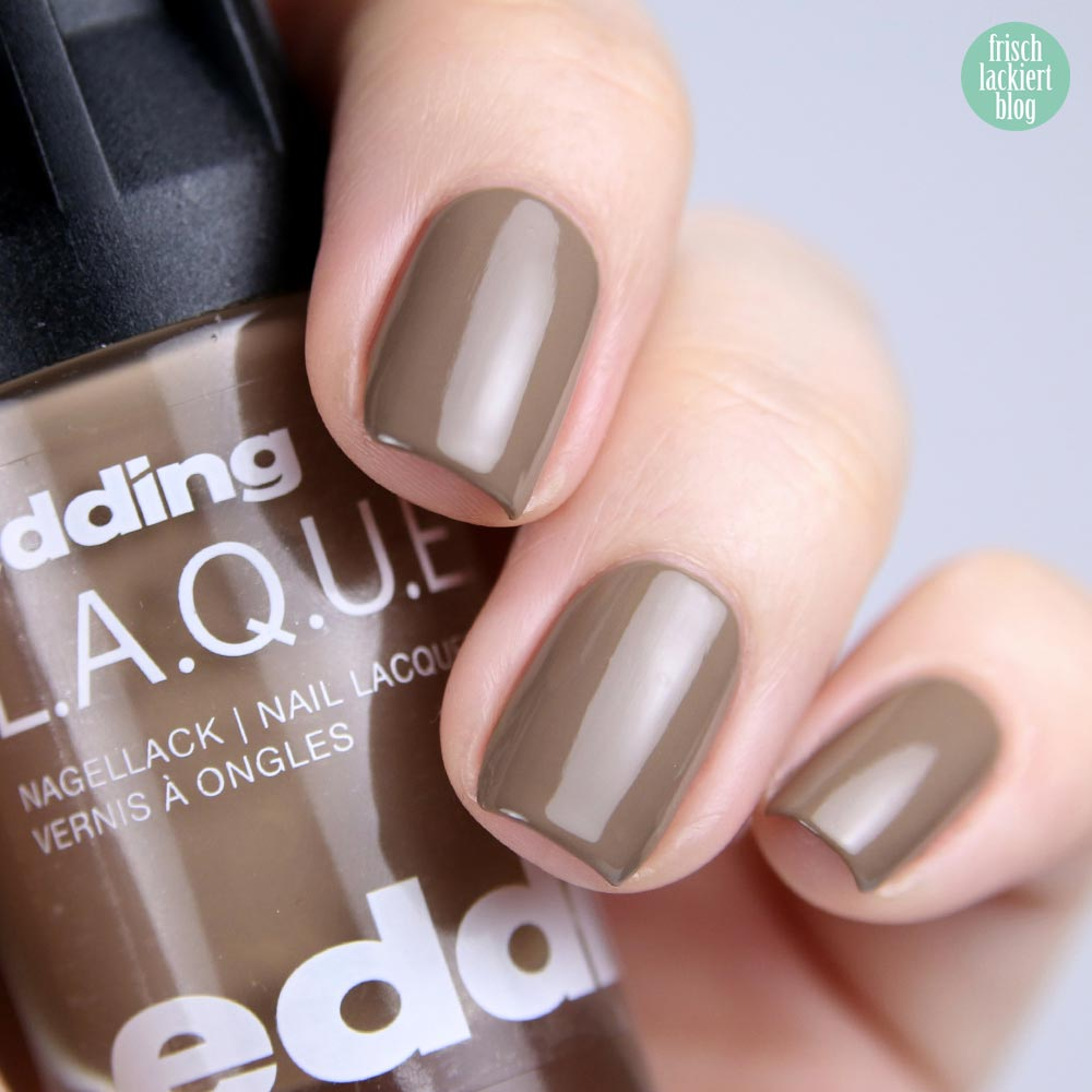 edding LAQUE – mood for mud - nailpolish brown - shade refresh – by frischlackiert