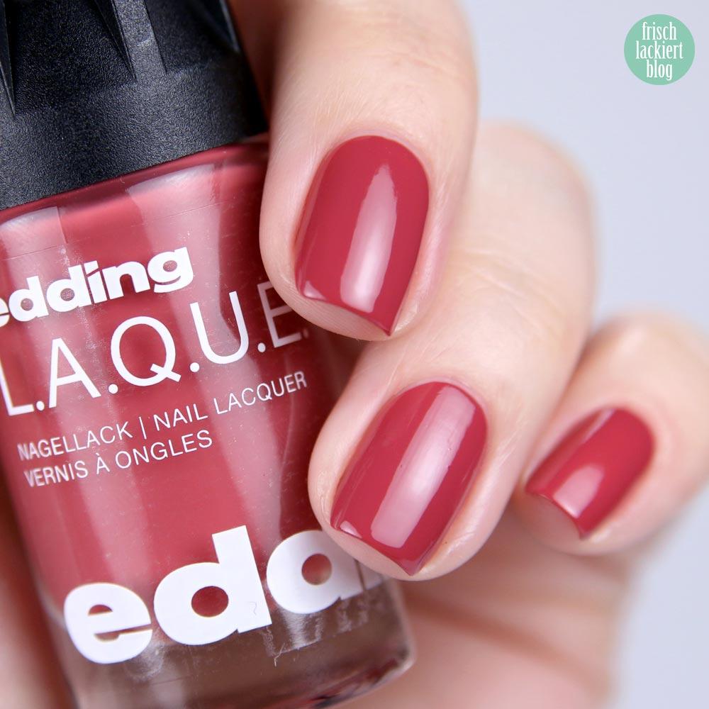 edding LAQUE – rosy rosewood - nailpolish rosenholz - shade refresh – by frischlackiert