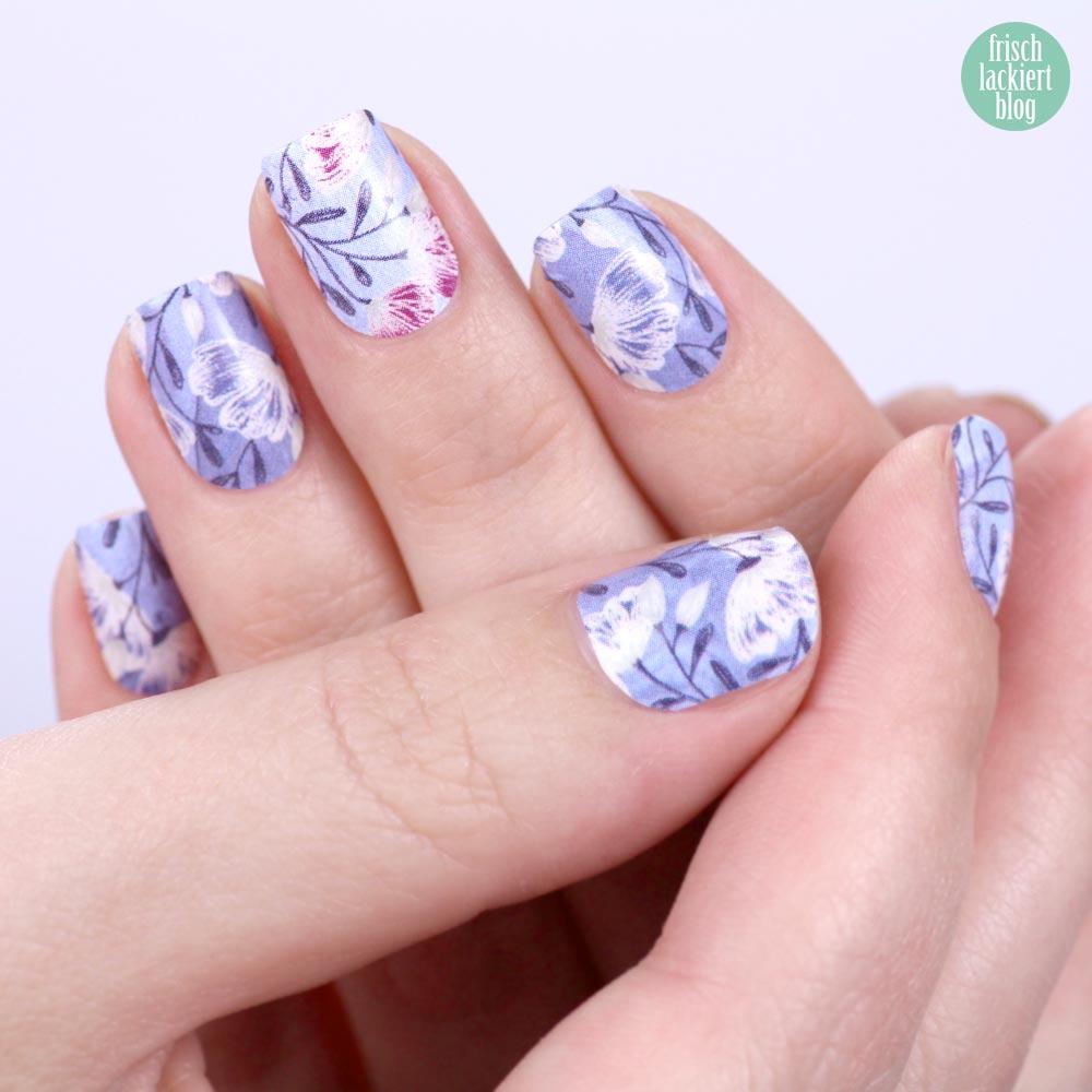 Sticker Gigant Pastellblume Nagelsticker - Blue flower Nailwraps - by frischlackiert