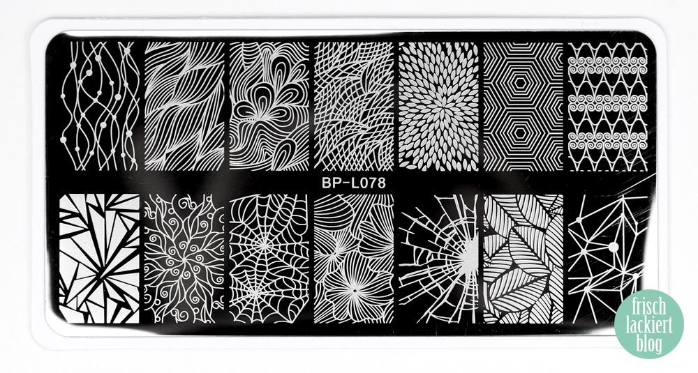 Bornprettystore Stamping Plate BP-L078 - by frischlackiert