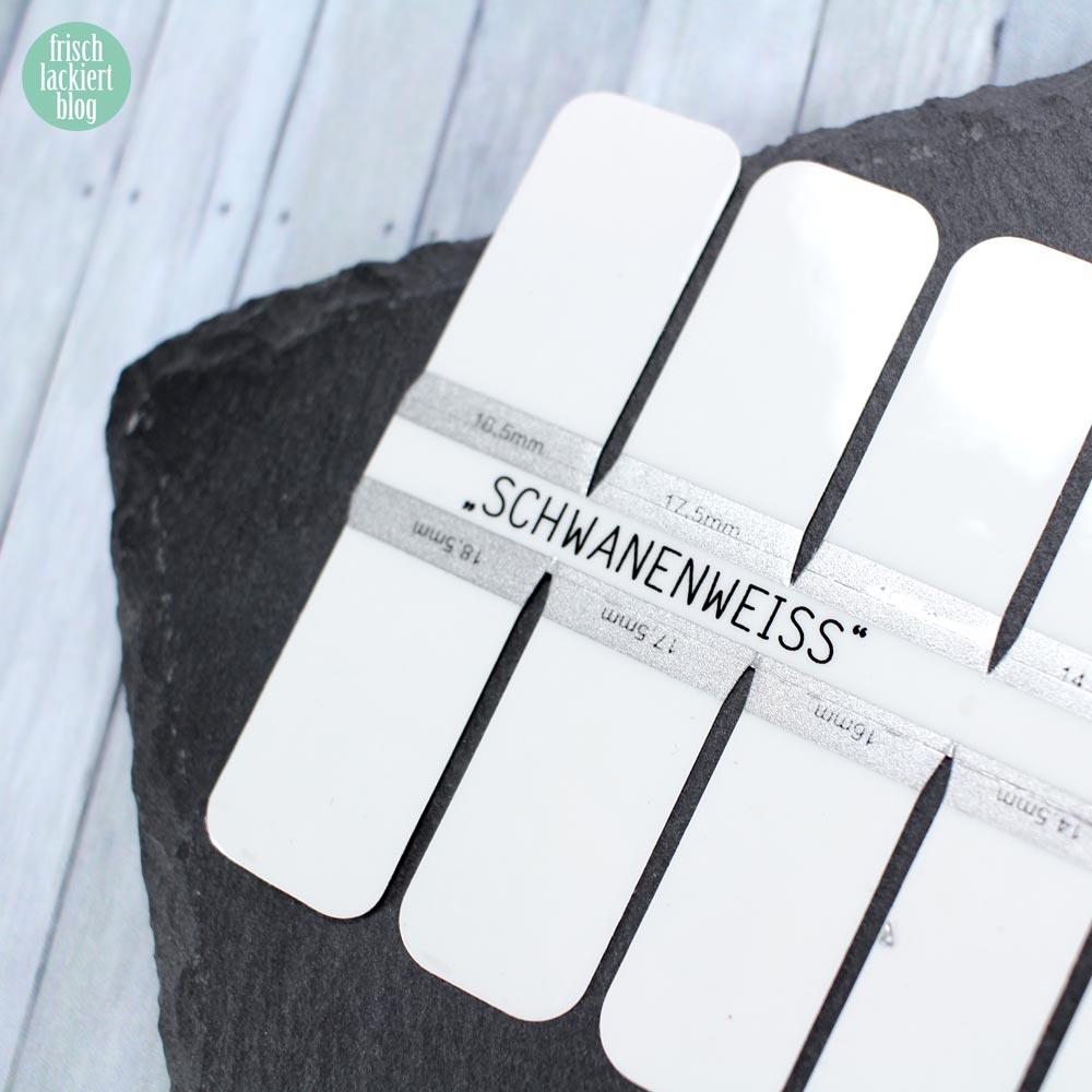 Sticker Gigant Nagelsticker - Schwanenweiss – by frischlackiert