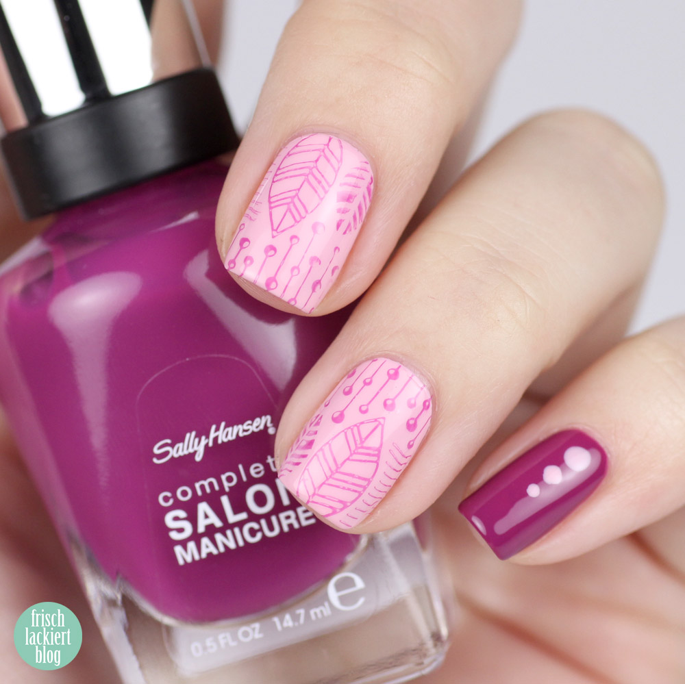 Sally Hansen Nagellack colorofthemoment – purple - rosa - lila - Pinky Promise und Scarlet Fever – by frischlackiert