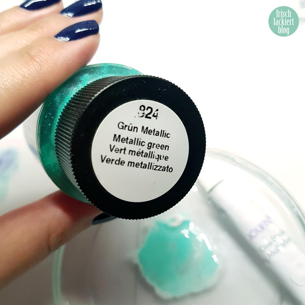 Frischlackiert-Challenge – Smoke Nails – Nailart in Blau und Mint – p2 volume gloss royal beauty – by frischlackiert