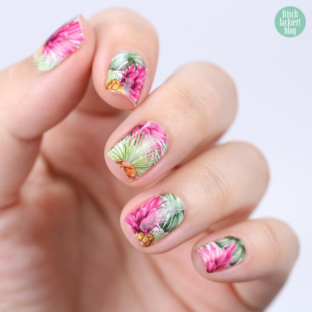 Sticker Gigant Nagelsticker – Pinkanas – Ananas Nailwraps – by frischlackiert