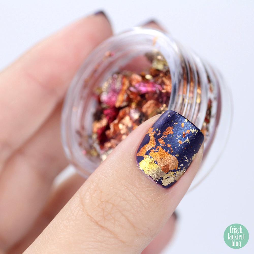 Frischlackiert-Challenge – Goldrausch – golden nails – gold nailart mit Goldfolie – by frischlackiert