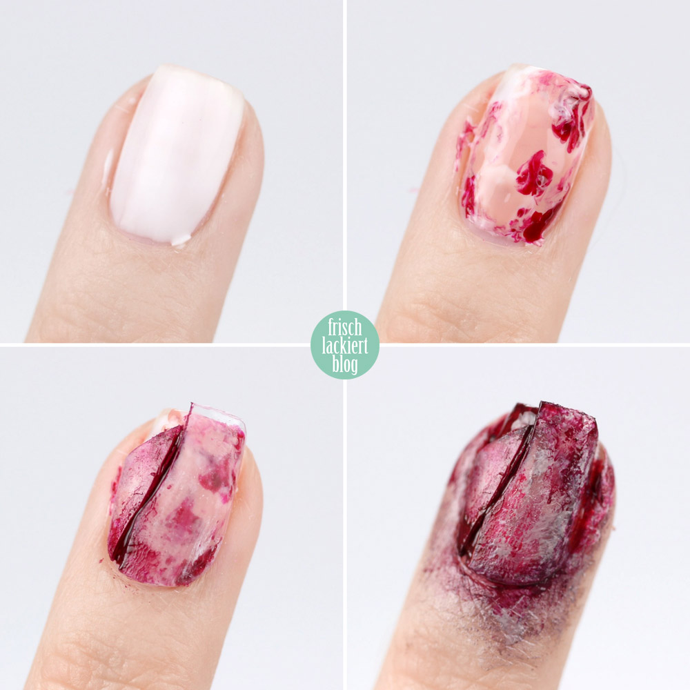 Frischlackiert-Challenge – Bloody Halloween Nailart Tutorial – by frischlackiert