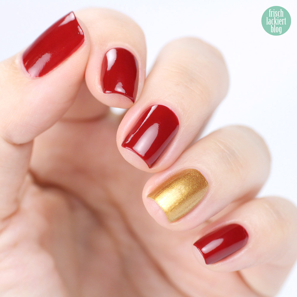 Juliana Nails – Gipsy Red und Put up your crown – swatch by frischlackiert