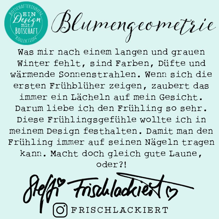 Sticker Gigant Akzentnagelsticker – Blumengeometrie – Video Anleitung zum Aufkleben – by frischlackiert