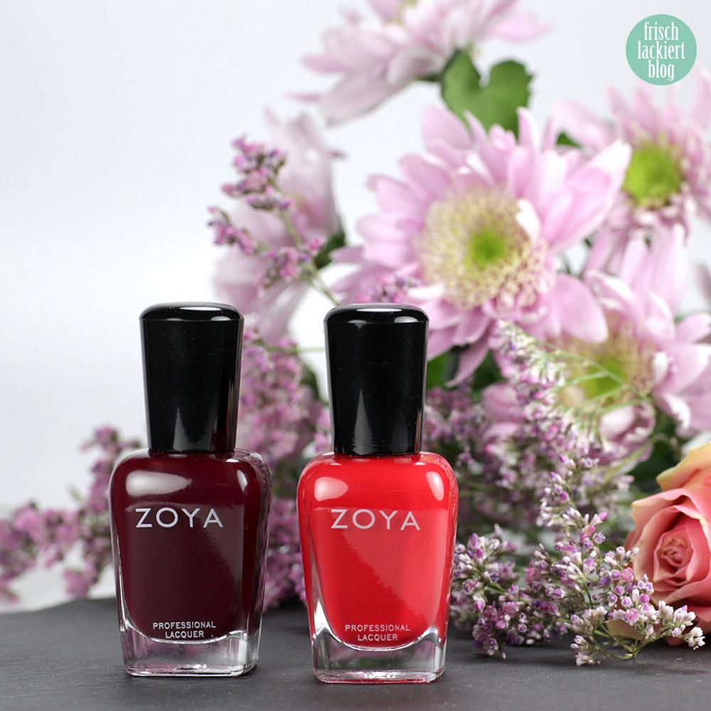 Zoya Sooki und Dakota – purish.de – roter und dunkelroter Nagellack – swatch by frischlackiert