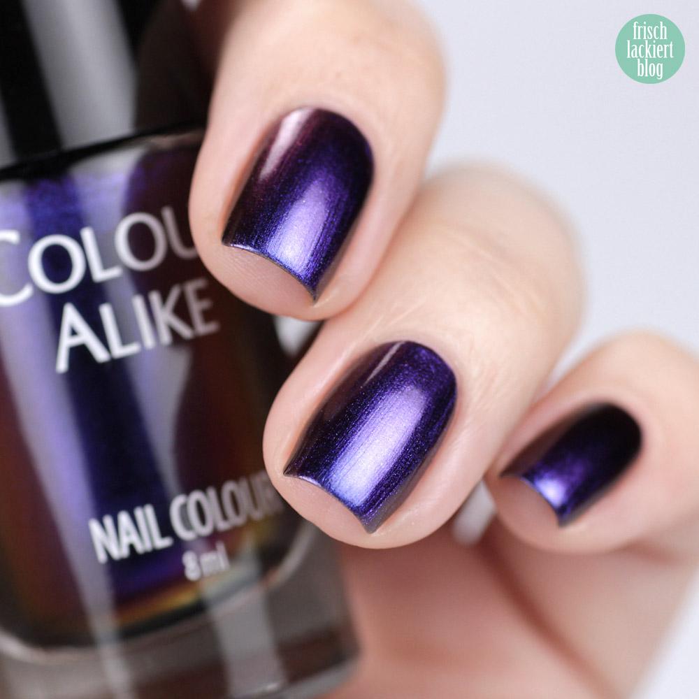 Multochrome Nagellack – Lila Blau Metallic – Colour Alike Castor – swatch by frischlackiert