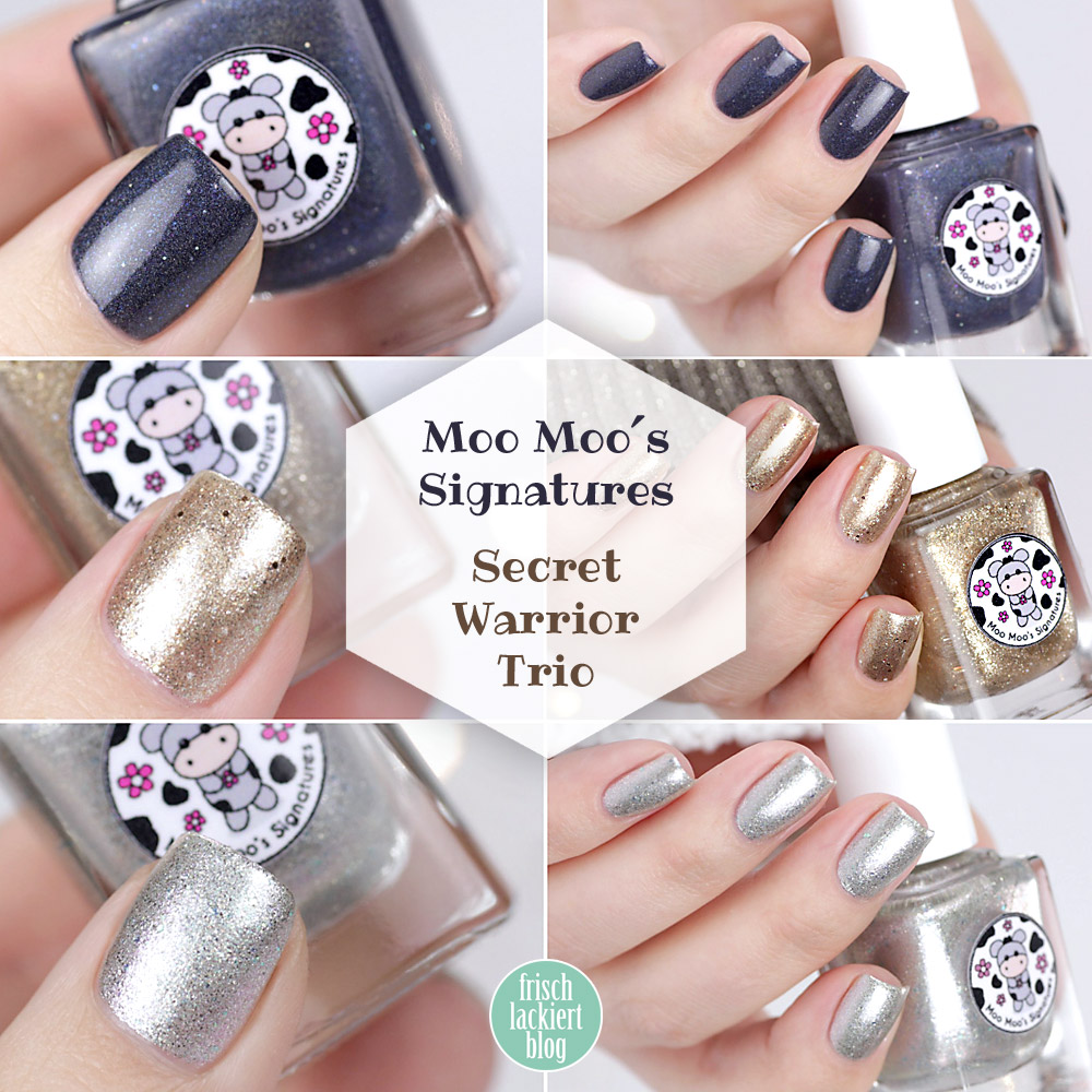 Moo Moo´s Signatures – Secret Warrior Trio – swatch by frischlackiert