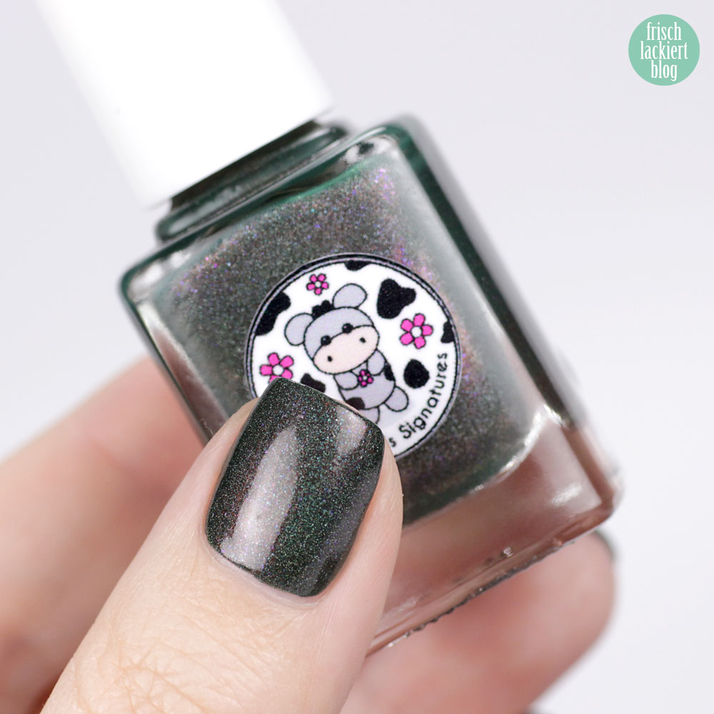 Moo Moo´s Signatures – Wild Crocodile – Shimmer Paradise Collection – holographic nailpolish – by frischlackiert