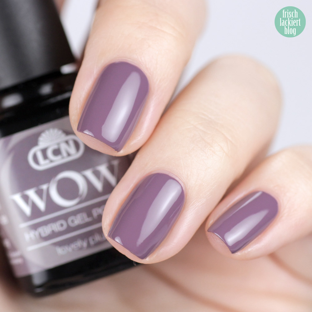 LCN WOW Hybrid Gel Polish – Nagellack Violett / Flieder – lovely plum – swatch by frischlackiert
