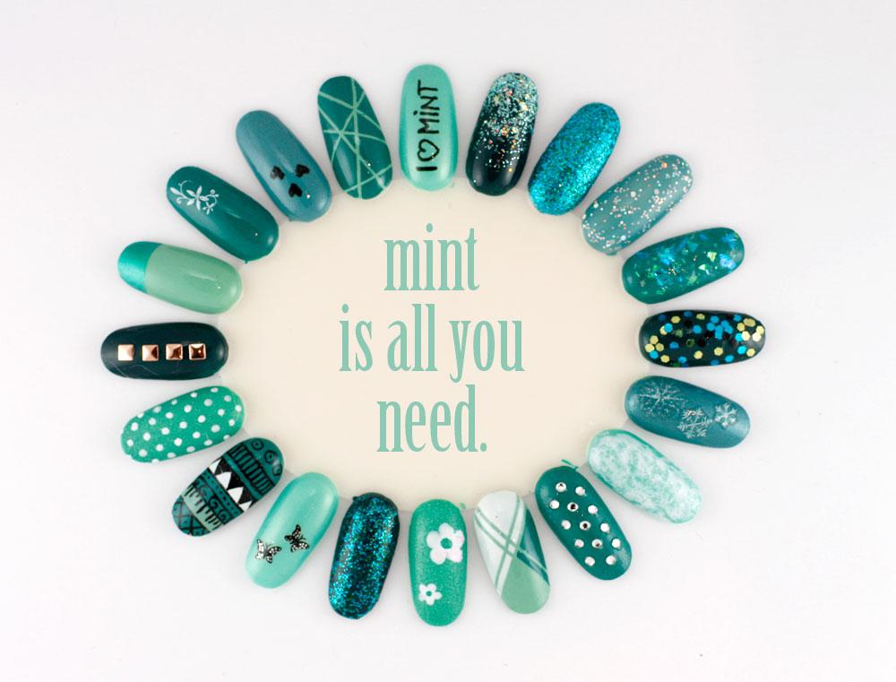 nailart inspiration mint - nailartwheel - nageldesign