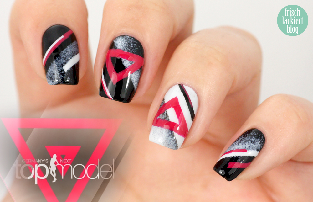 GNTM germanys next topmodel nailart maybelline