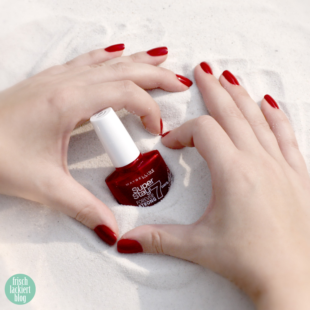 maybelline new york  #nailmotion mit superstay7days cherry sin