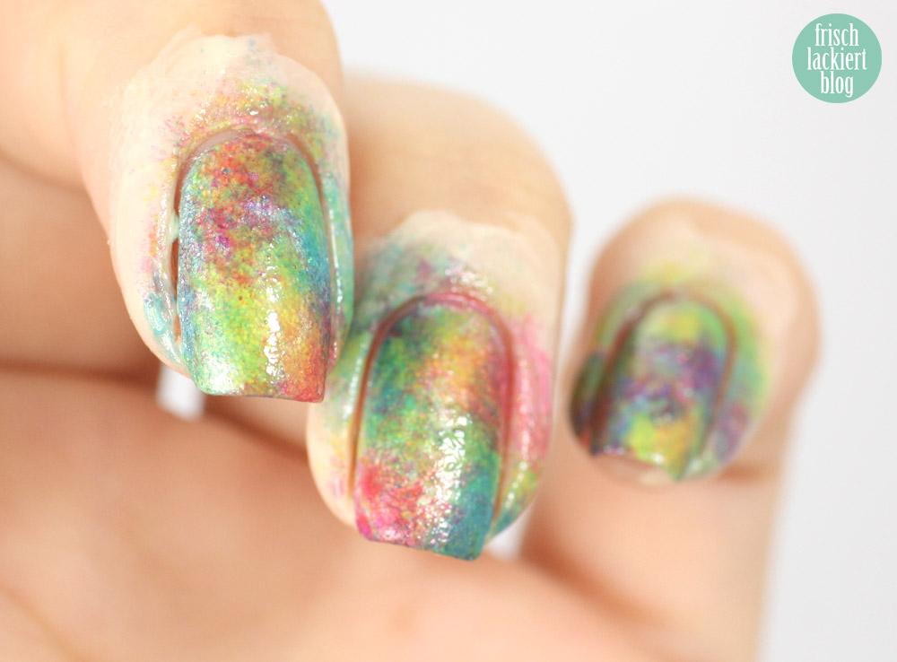 frischlackiert, rainbow nailart DIY sheer tints