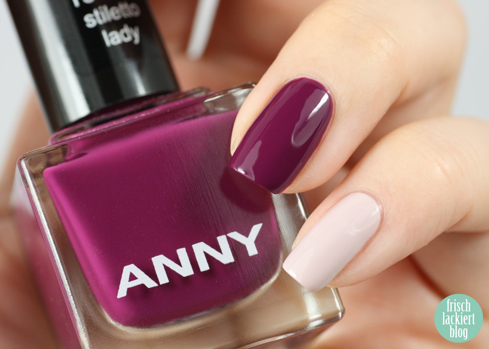 frischlackiert ANNY life is love stiletto lady distressed nailart