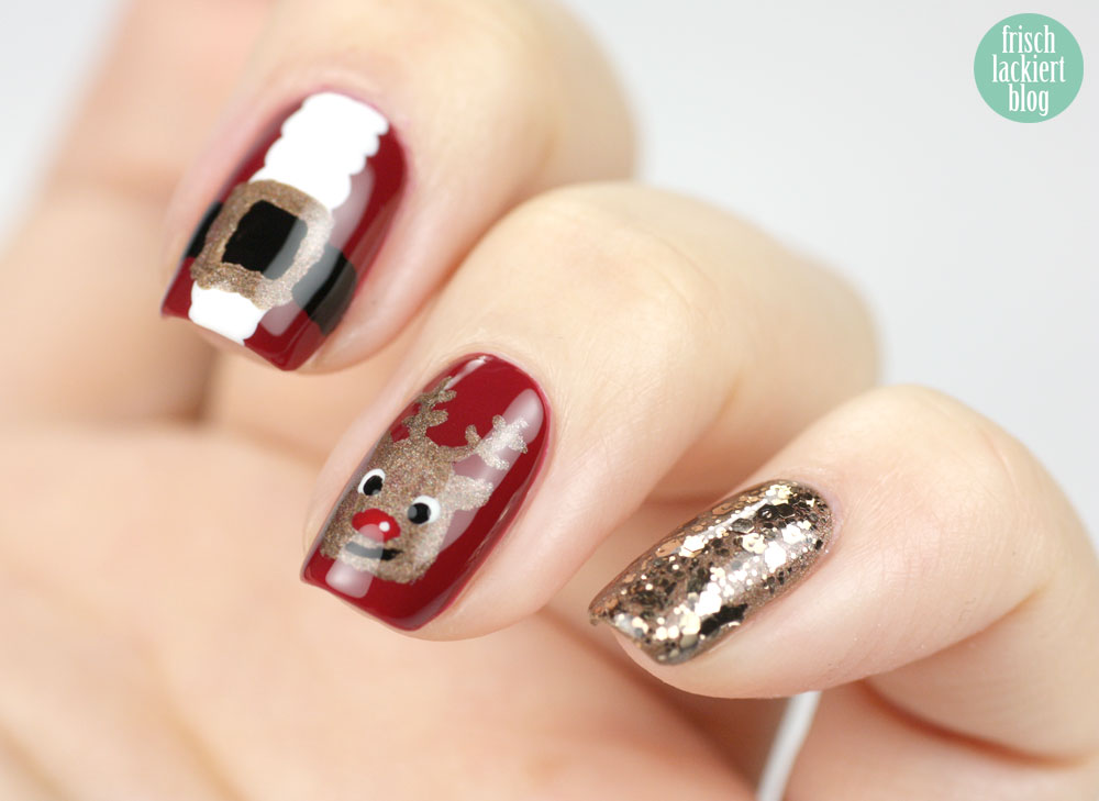 Essie Rentier Nailart, Rudolph the red nosed Reindeer