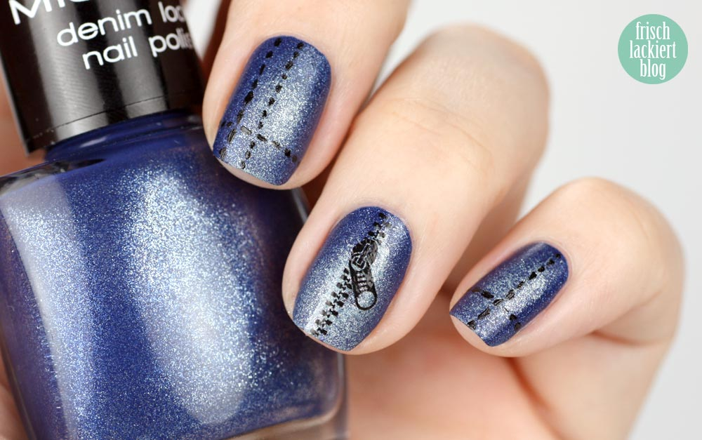 Misslyn denim look nailart