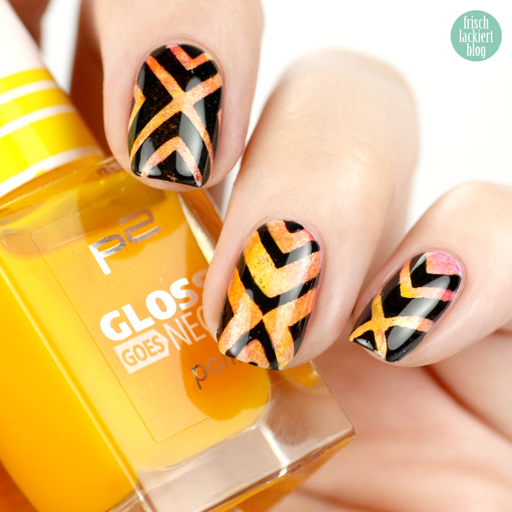 tape nailart black and orange - nail vinyls