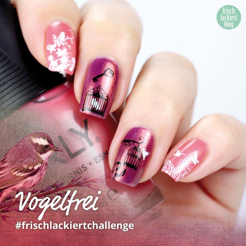 Frischlackiert-Challenge – Vogelfrei – Bird Nailart – by frischlackiert