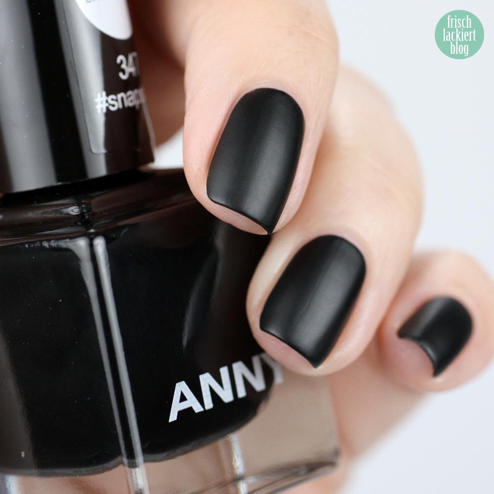 ANNY #snapstory aus der #mattechat Kollektion – Hashtag Nailart – swatch by frischlackiert