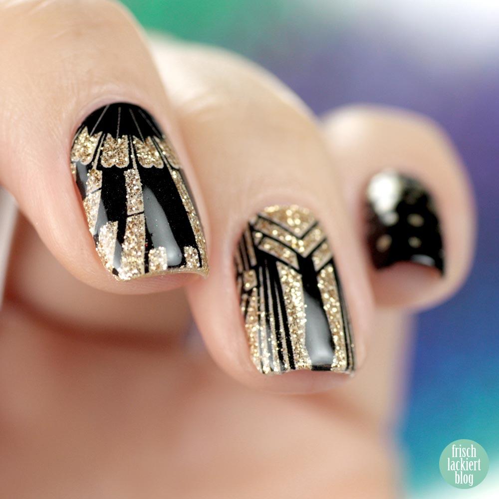 Sticker Gigant Goldener Gatsby – Nailwraps – by frischlackiert