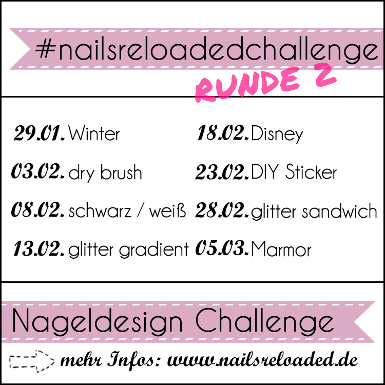 Nailsreloaded Challenge – Nailartchallenge February 2017