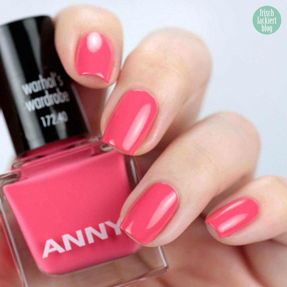 ANNY warhol´s wardrobe – urban jungle Kollektion – swatch by frischlackiert – Nagellack Koralle