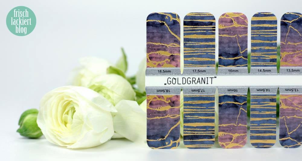 Sticker Gigant Frühlingskollektion 2017 – Goldgranit – Nailwraps – by frischlackiert