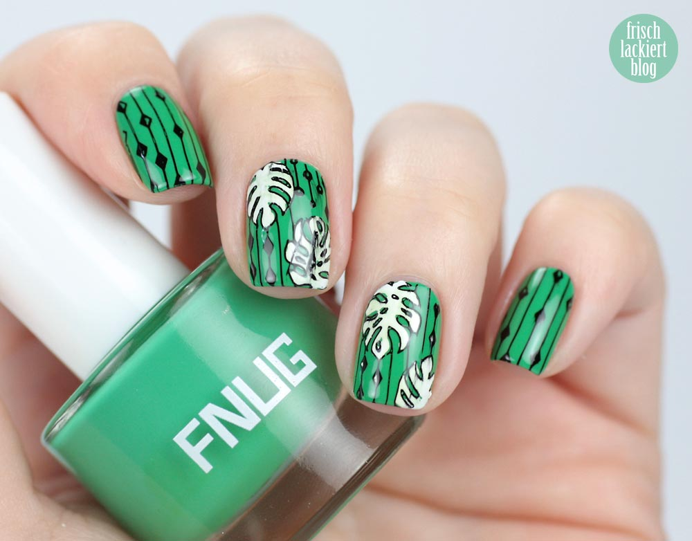 FNUG Hipsters – with jungle nailart – Moyou Trend Hunter – by frischlackiert